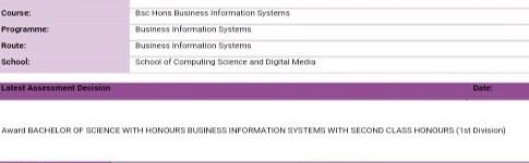 Undergrad Results